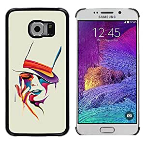 Be Good Phone Accessory // Dura Cáscara cubierta Protectora Caso Carcasa Funda de Protección para Samsung Galaxy S6 EDGE SM-G925 // Colorful Art Portrait