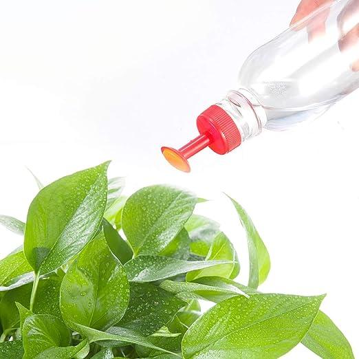 Chennie Botella Superior Riego Rociadores Juego de boquillas Herramienta de riego para Plantas de jardín Riego Semillas Plántulas de riego Plantas Flor (Color : Red): Amazon.es: Jardín