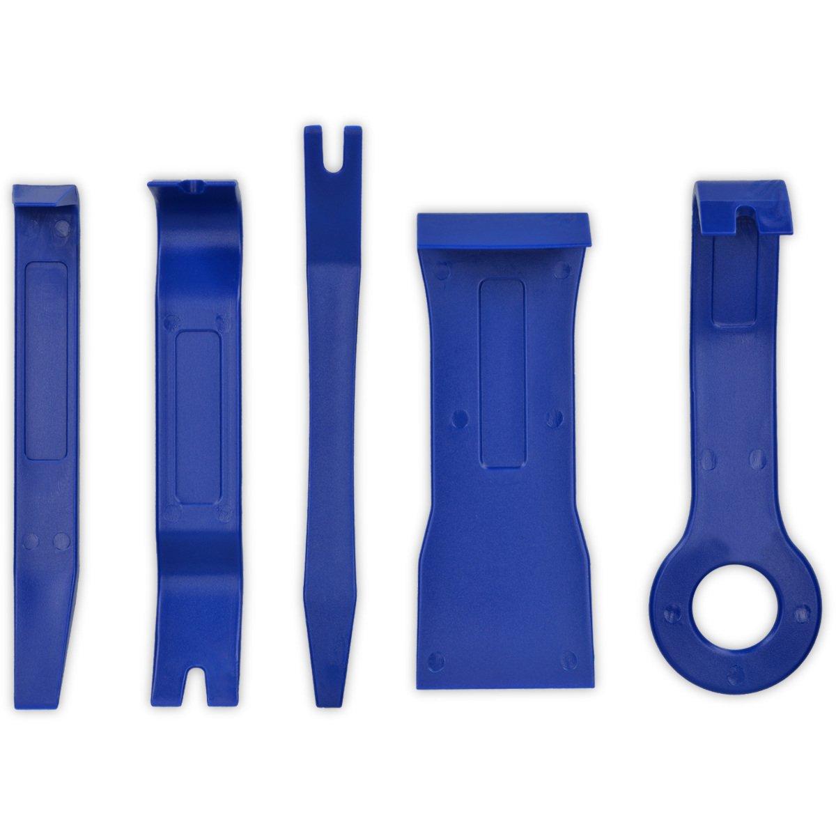 kwmobile Set 5in1 utensili auto - Strumenti antigraffio per installazione montaggio rimozione smontaggio - Attrezzi tappezzeria interni auto moto blu KW-Commerce 42179_m000685