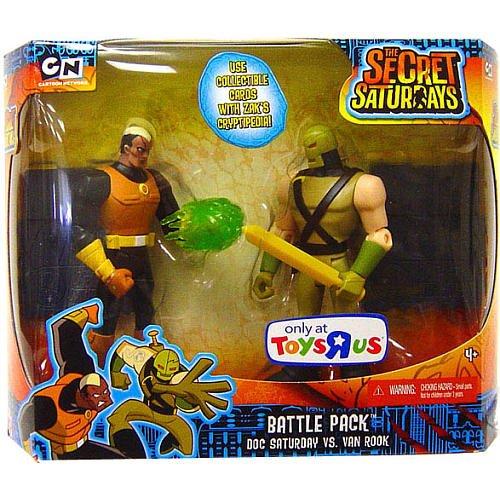 The Secret Saturdays Exclusive Action Figure Battle Pack Doc Saturday vs. Van Rook