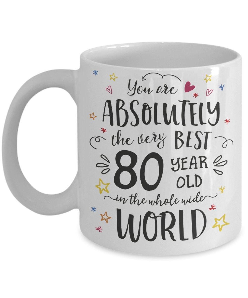 Amazon 80th Birthday Gift Mug