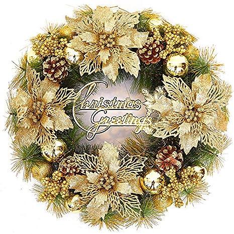 Decorazioni Natalizie Dorate.Vhvcx Decorazione Ghirlanda Di Natale Decorazione Ghirlanda