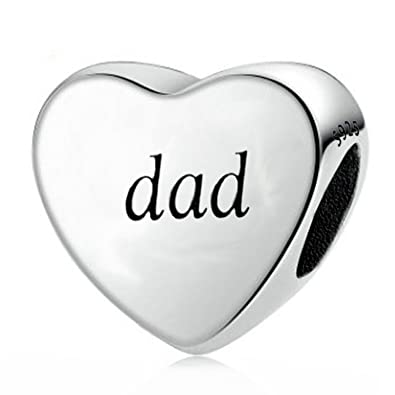 9f053922c You Raise Me Up Dad 925 Sterling Silver Charms Fit Pandora Bracelets,Gift  for Father