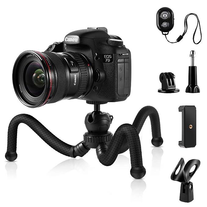 K&F Concept - Trípode Flexible para cámara y teléfono de 12 ...