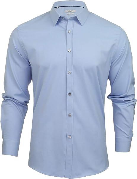 Xact Poplin Stretch – Camisa informal – sin modelo – con cuello – Manga larga – Hombre