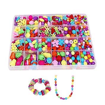 Kit Plastique Pour Perle Coloré Enfant Enfants Bracelet perles 2IEDHWY9
