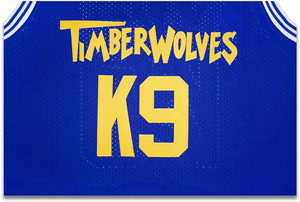 borizcustoms Air K9 Timberwolves Blue Basketball Jersey Stitch Royal Yellow
