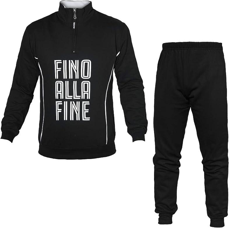Pijama para Hombre Juventus con Cremallera Negro Medium: Amazon.es ...