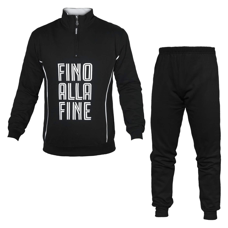 Pijama para Hombre Juventus con Cremallera Negro Large: Amazon.es ...