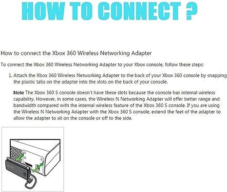 Adaptador de Red inalámbrico Xbox 360 WiFi A/B/G & N con ...
