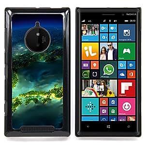 Island Planet Earth Space Caja protectora de pl??stico duro Dise?¡Àado King Case For Nokia Lumia 830
