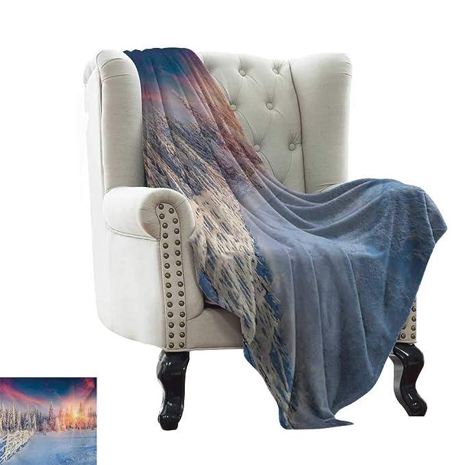 Amazon.com: BelleAckerman Travel Blanket Winter,Colorful ...