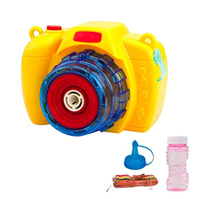 Bubble Camera Machine, LED Light & Music- Includes Bubble Blaster Camera and Bubble Solution - Fun Light-Up Bubbles Blowing Toy for Boys and Girls, Great Outdoor Summer Game: Jewelry