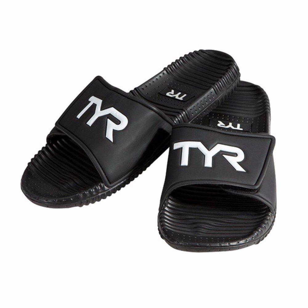 TYR SPORT Sandal 13 Men s Deck Black Slider Sandal Black