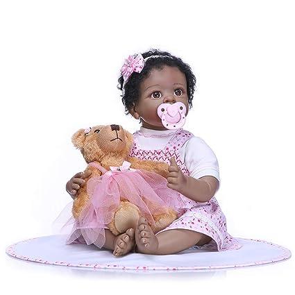 Amazon Com Icradle Toddler 22inch55cm Reborn Baby Dolls Silicone