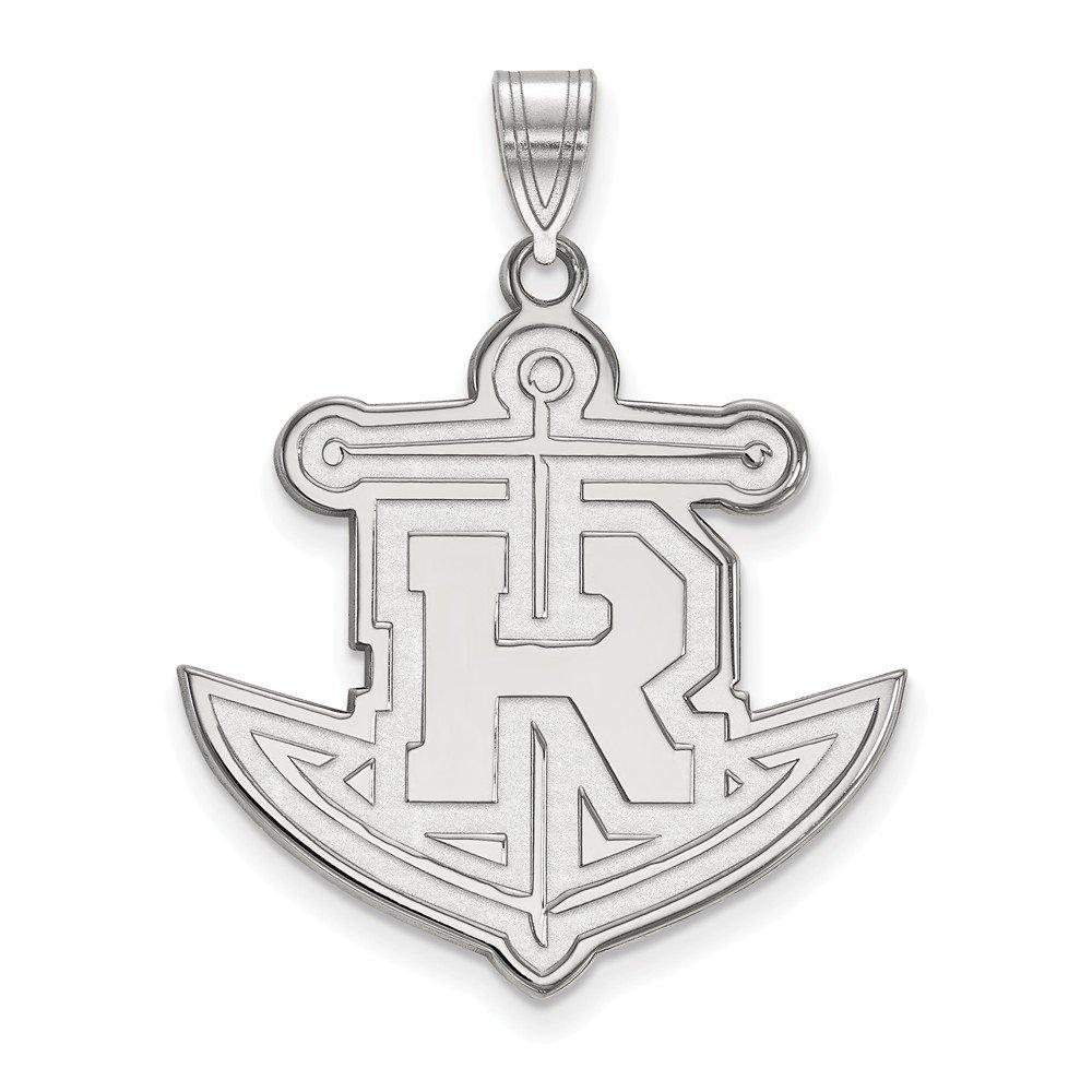 10k White Gold Rollins College Tar School Mascot Pendant