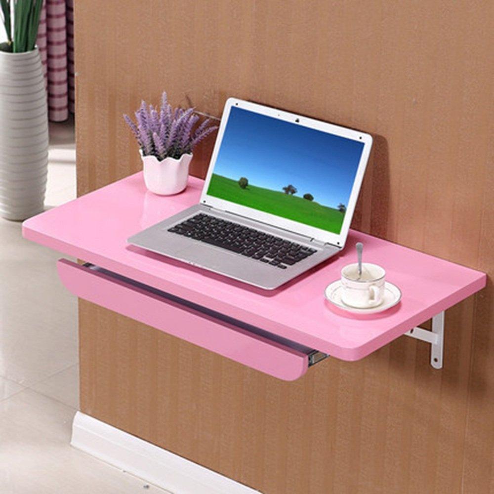 マチョン コンピュータデスク シンプルな壁に取り付けられたデスクコーナーデスクの壁コンピュータのデスクの壁のデスク (色 : Pink, サイズ さいず : 100cm*40cm) B07F656TFQ 100cm*40cm Pink Pink 100cm*40cm