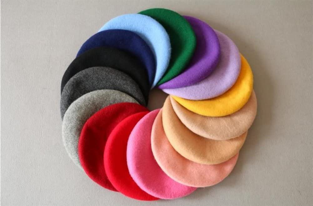 Pure Color Childrens Beret 50-52CM red Dosige Hat Children of Autumn and Winter Princess Hat for Children