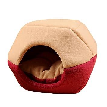 Qianle casa caseta cama plegable para perro gato con cojín: Amazon.es: Productos para mascotas