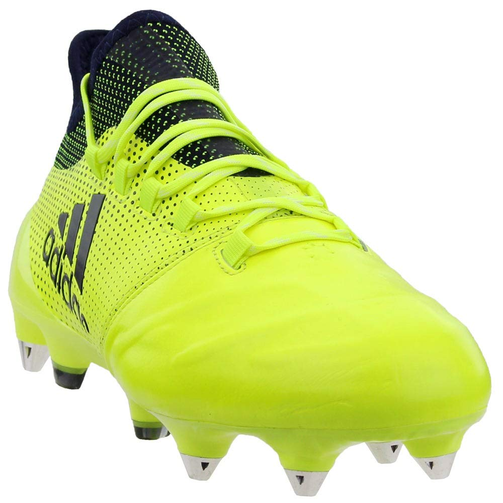 adidas Mens X 17.1 Soft Ground Leather Soccer Athletic Cleats, Yellow, 7 by adidas