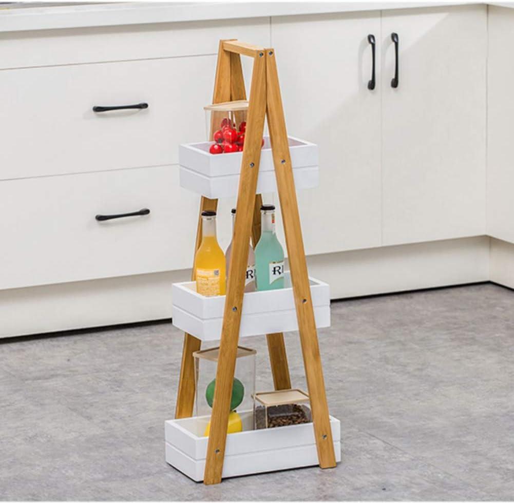 TISESIT INDOOR Estante De Escalera De Flores De 3 Niveles Estantes De Exhibición De Madera Estante De Almacenamiento De Baño para Cocina Sala De Estar Dormitorio Oficina