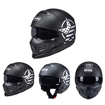 Full Face Cruiser Helmets >> Amazon Com Evin Modular Removable Chin Motorcycle Full Face