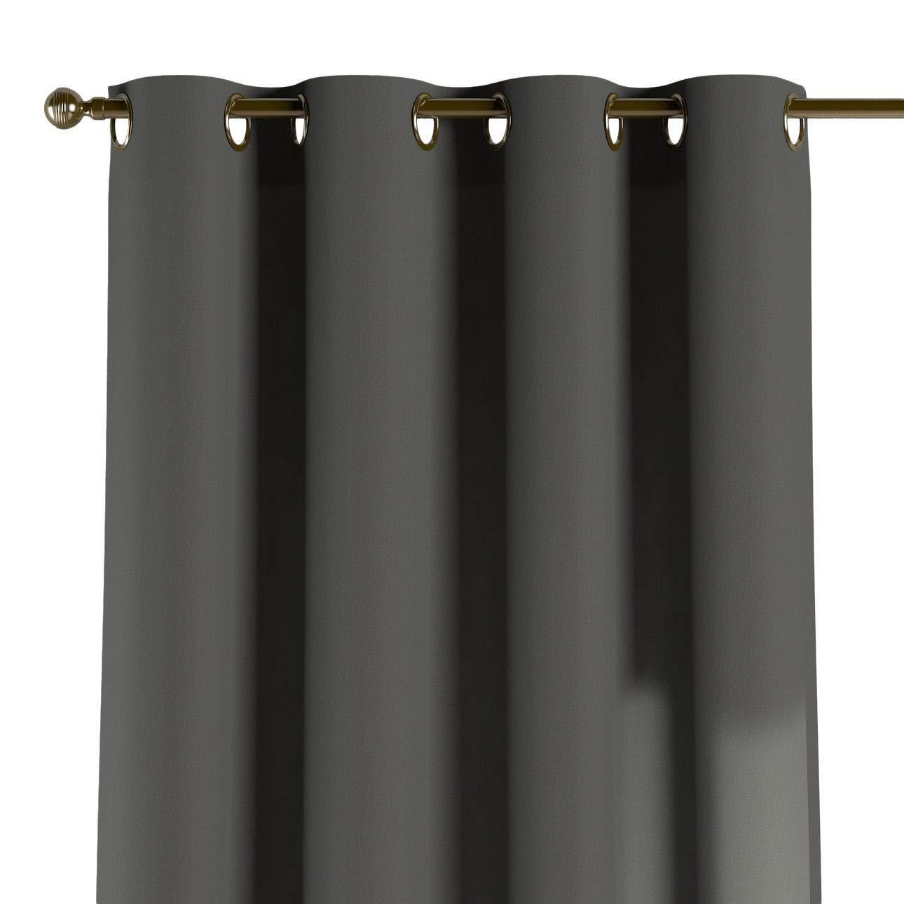 Dekoria Ösenschal Dekoschal Blickdicht 1 Stck. 130 × 260 cm grau Maßanfertigung möglich