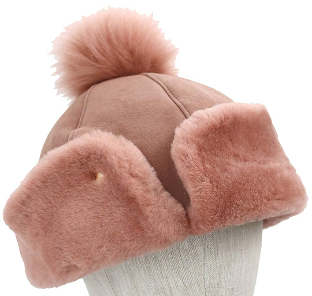 101757d0b8705 UGG Women s Up Flap Water Resistant Sheepskin Hat Black One Size at Amazon  Women s Clothing store