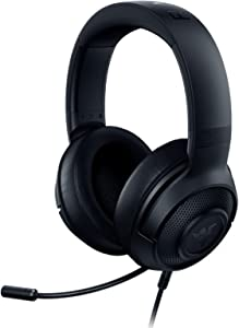 Razer Kraken X Lite Ultralight Gaming Headset: 7.1 Surround Sound Capable - Lightweight Frame - Bendable Cardioid Microphone - for PC, PS4, Nintendo Switch - Classic Black
