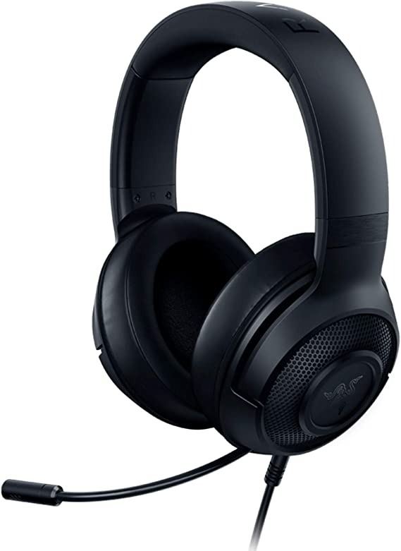 Razer Kraken X Ultralight Gaming Headset: 7.1 Surround Sound Capable - Lightweight Frame - Integrated Audio Controls - Bendable Cardioid Microphone - For PC