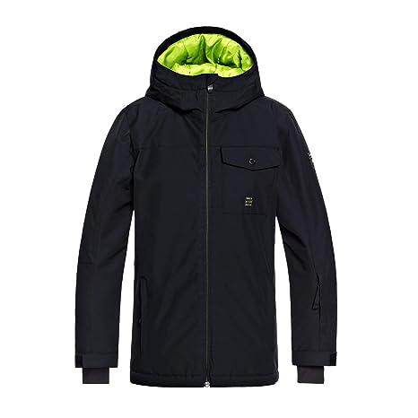 Quiksilver Mission Snow Jacket, Niños, Black, 8/S