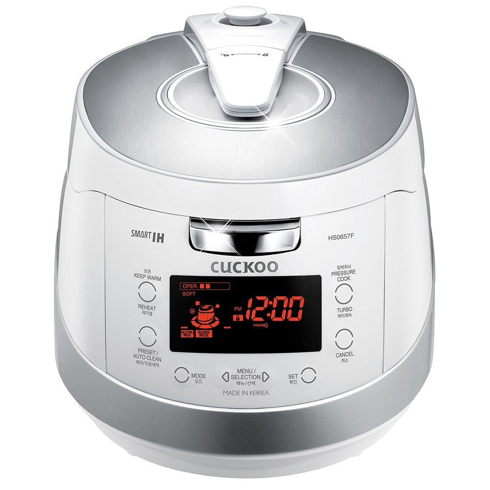 Cuckoo Electric Induction Heating Pressure Rice Cooker CRP-HS0657F (White)