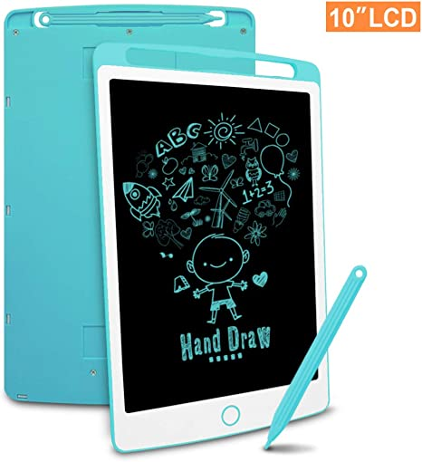 Portable Graffiti Pad LCD Writing Board for Children and Adults Best Gift,11-inch Office Job School Family Electronic Tablet Color : Blue LCD Color Message Board Eye Protection