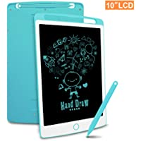 Richgv LCD Writing Tablet, 10 Inch Electronic Drawing Board Graphic Tablets with Memory Lock, Handwriting Paperless Notepad Suitable for Home Job School Office Blackboard (Blue)