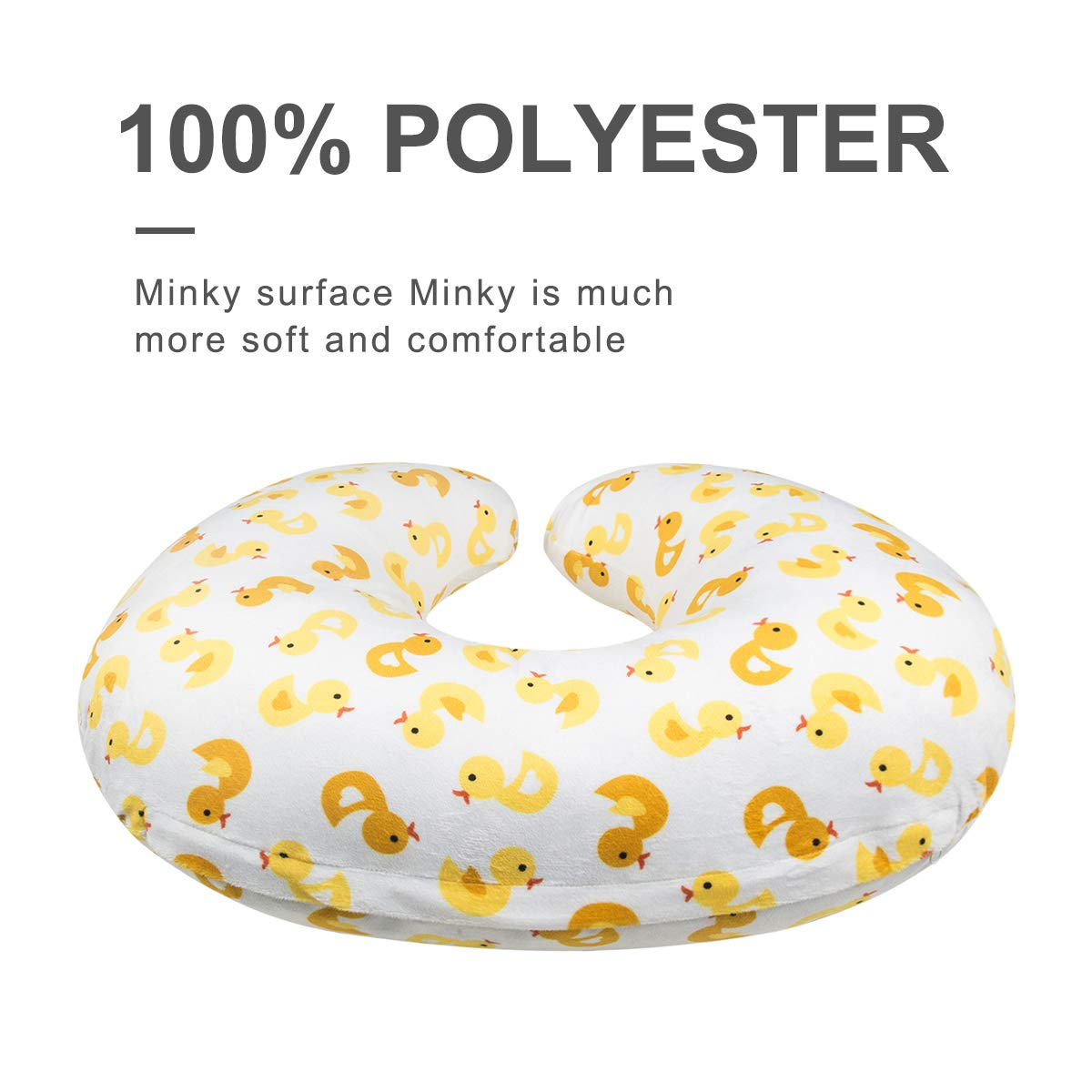 ALVABABY Nursing Pillow Cover Slipcover,100/% Organic Cotton,Soft and Comfortable,Feathers Design,Maternity Breastfeeding Newborn Infant Feeding Cushion Cover,Baby Shower Gift ZT-Z15