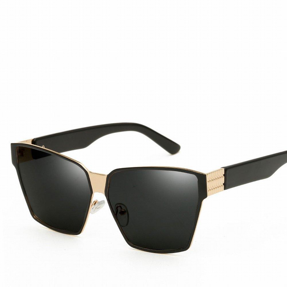 Weibliche Sonnenbrille Mode Persönlichkeit Polarisierte Gläser Trend Polarisierte Sonnenbrille , Schwarzer Rahmen Ganz Grau