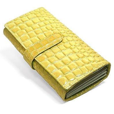 e562ef1a7731 Amazon   [MOMO モモ] オシャレ レディース長財布 ( エナメル クロコ型 ...