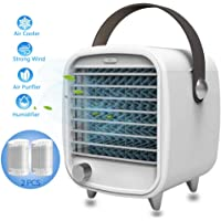 Air Cooler, Portable Air Conditioner Fan Personal Space Cooler Humidifier Air Purifier Evaporation Cooler Mini Cooling Desktop Fan for Office Home (Mini)