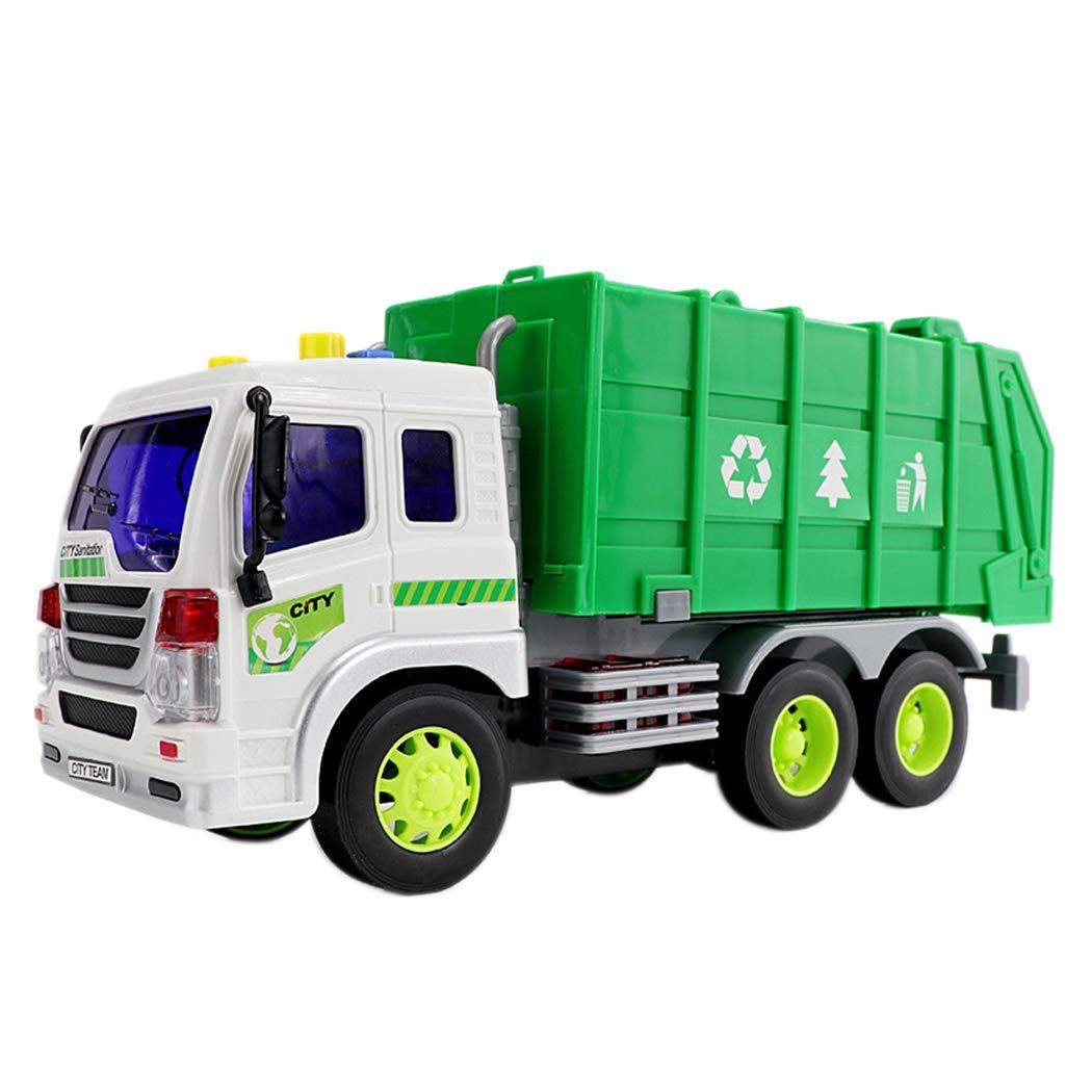 Inkach ゴミ箱 トラック 摩擦 パワー リサイクル品 ゴミ 運搬 トラック 光の音 都市建設車両 One Size マルチカラー IN-1 B07HBZ21GP A