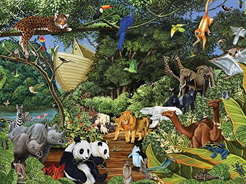 Cobble Hill Noah's Gathering 400 Piece Family Puzzle