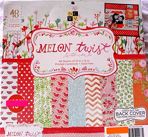 Melon Twist 12x12 Scrapbooking Cardstock Paper Pad 48 Sheets,dots,chevron,flowers,fruit,melons Summer Bright (12 X 12 Dots)