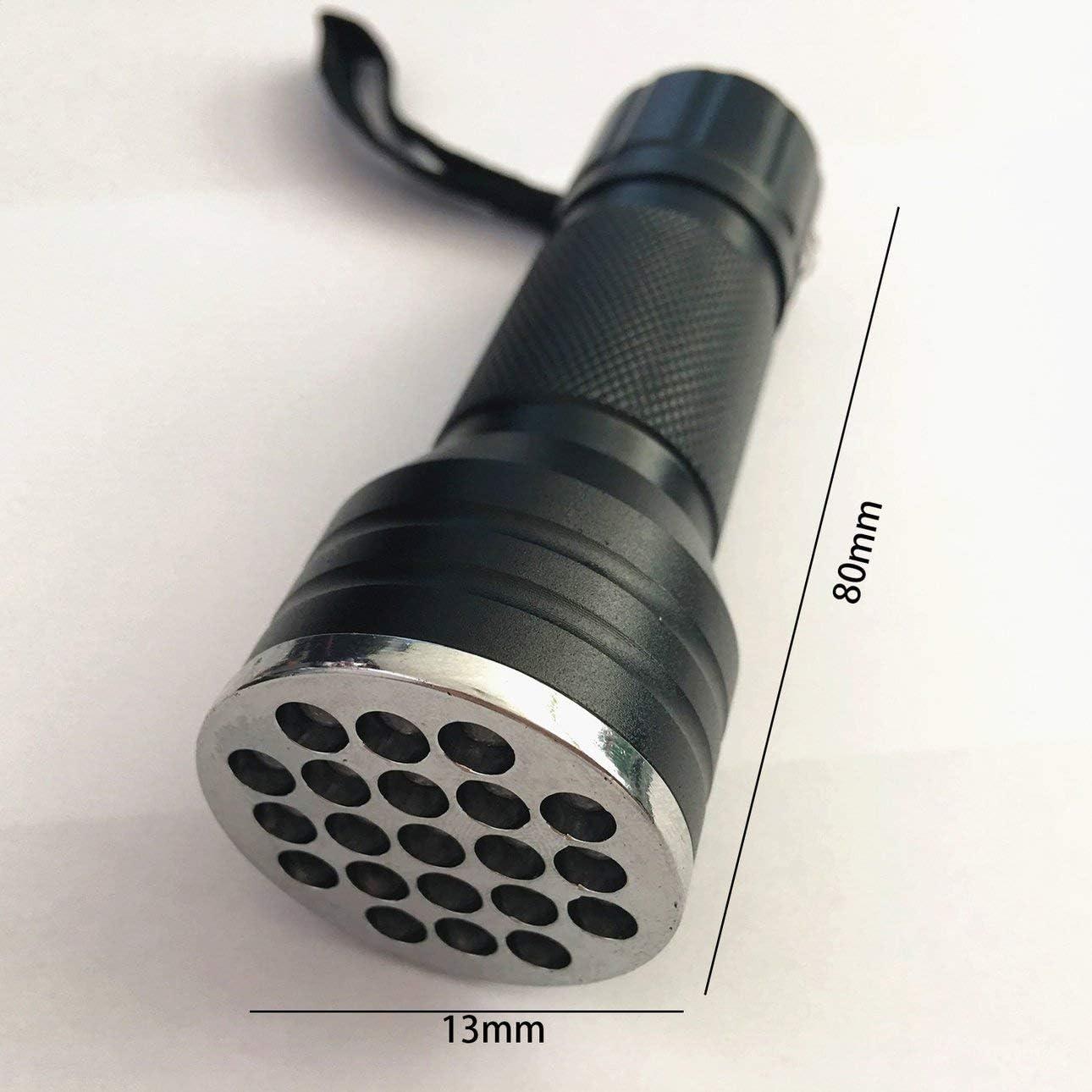 Ballylelly 21 LED Luz de antorcha UV 395 NM Linterna Ultravioleta multifunci/ón Detector de Manchas de orina para Mascotas L/ámpara de inspecci/ón de Escorpiones