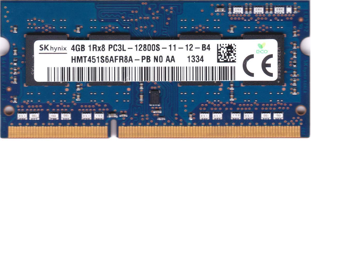 Memoria Ram 4gb Hynix Hmt451s6afr8a-pb Pc3-12800 Ddr3-1600mhz Non-ecc Unbuffered Cl11 204-pin Sodimm 1.35v Low Voltage S