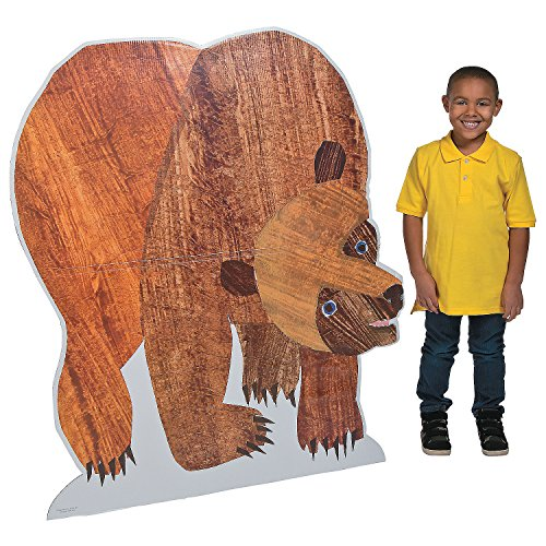 Fun Express - Brown Bear Stand up for Birthday - Party Decor - Large Decor - Floor Stand Ups - Birthday - 1 Piece