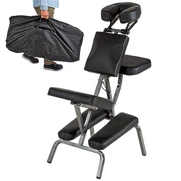 Chaise De Massage Portable Pliant Cuir Tampon Professionnel Ajustable Tabouret Avec Porter