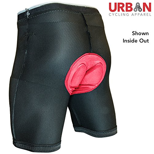 Urban Cycling Apparel UCA Padded Cycling Undershorts With Premium Antibacterial G-TEX Pad - For Pub Crawler and Single Tracker Bike Shorts (2XL)