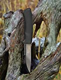 Morakniv-Bushcraft-Black-Serrated-Knife-with-012543-Inch-Sandvik-Stainless-Steel-Blade-and-Plastic-Sheath