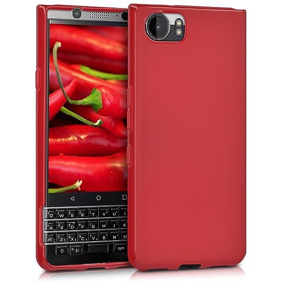 6d5926fdbca kwmobile Funda para Blackberry KEYone (Key1) - Carcasa para móvil en [TPU  Silicona] - Protector [Trasero] en [Rojo Mate]: Amazon.com.mx: Electrónicos