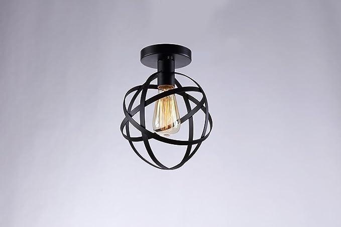 Plafoniere Vintage Da Parete : E nero metallo paralumi lampada da soffitto retro design