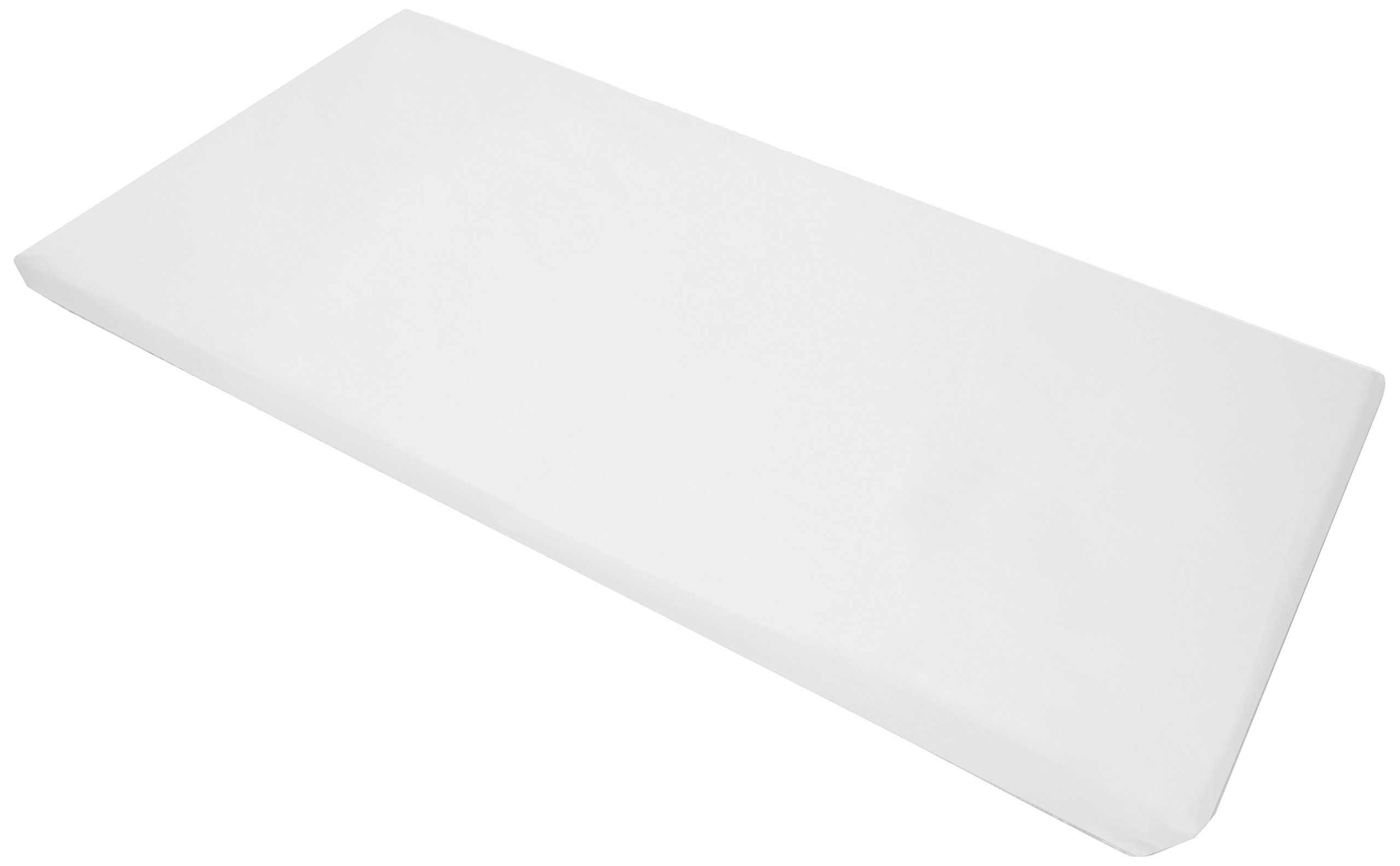 American Baby Company 10-Piece Cotton-Polyester Blend, Standard Day Care Nap Mat Sheet, White, 24'' x 48'' x 4'' by American Baby Company